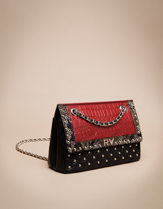 Red exotic Ghauri shoulder bag