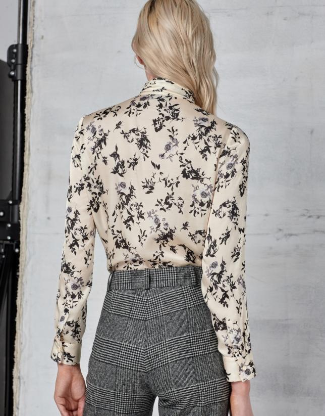 Blusa lazada estampado floral