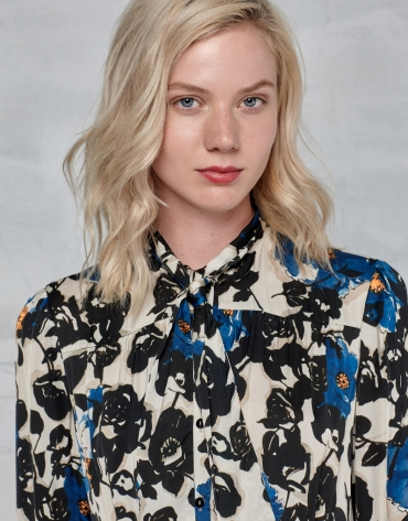 Vestido camisero estampado floral