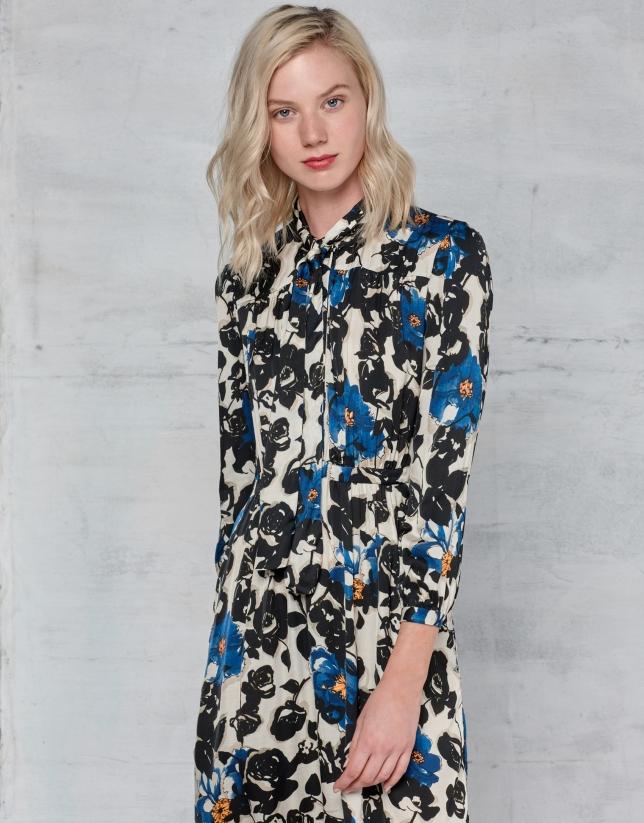 Floral print shirtwaist dress