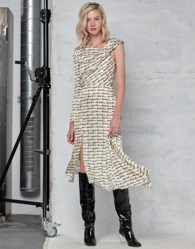 White RV asymmetric dress