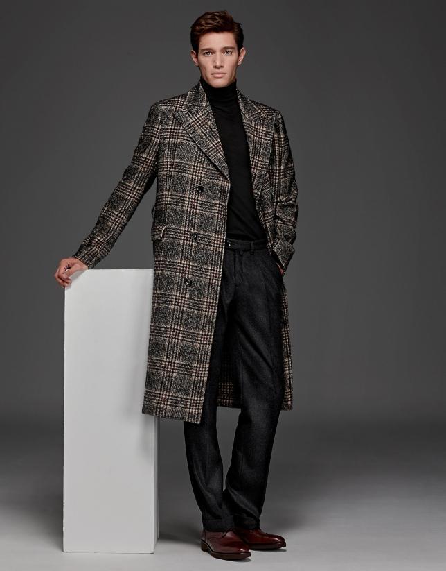Abrigo largo cruzado negro