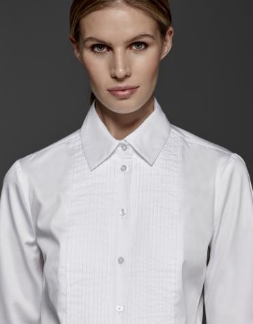 White shirt with tucks