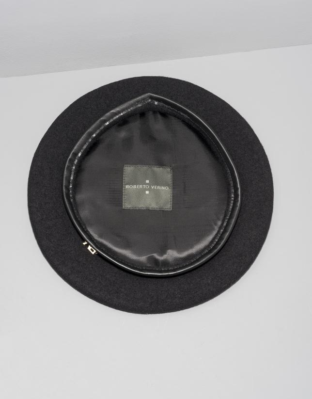 Boina lana negra