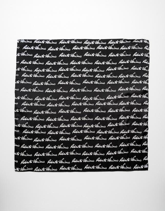 Pañuelo firma RV negro