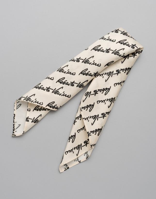 Small white RV signature scarf
