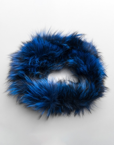 Klein blue tubular fox collar