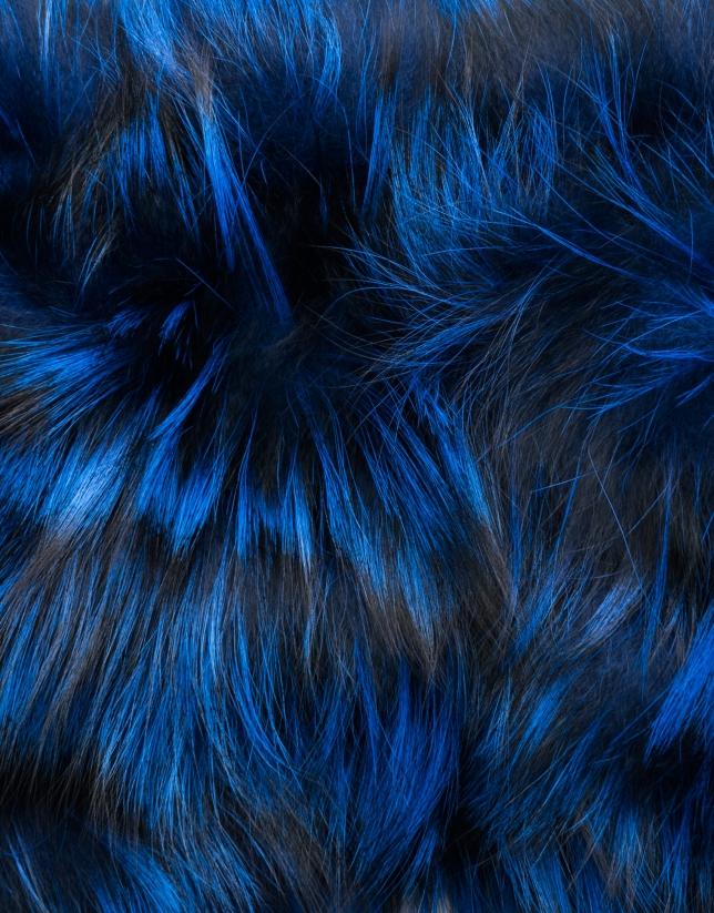 Tour de cou tubulaire en renard bleu klein