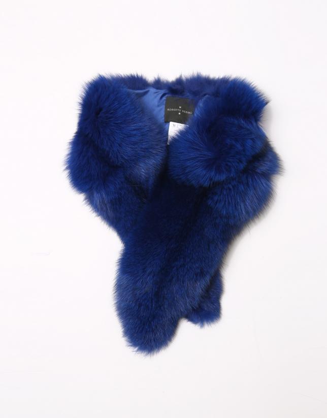 Klein blue fox collar