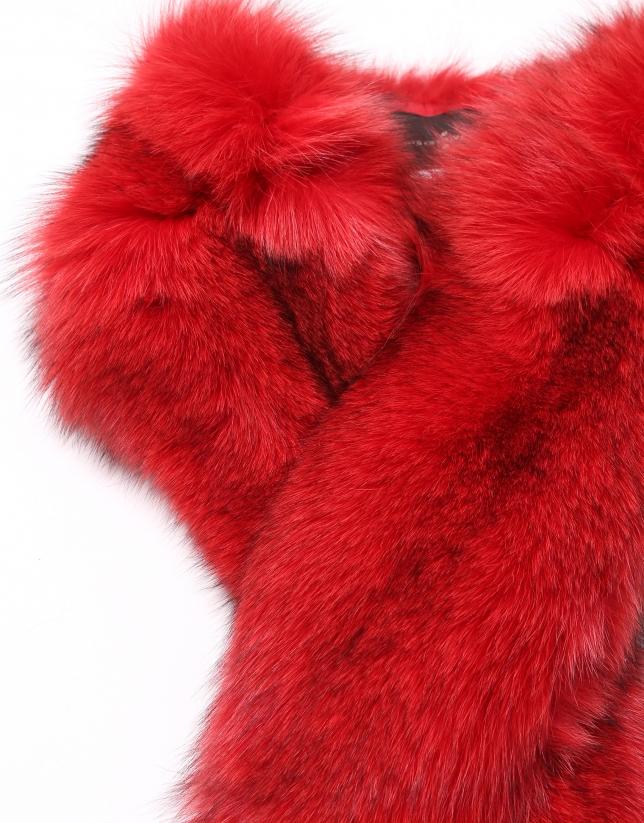 Tour de cou en renard rouge