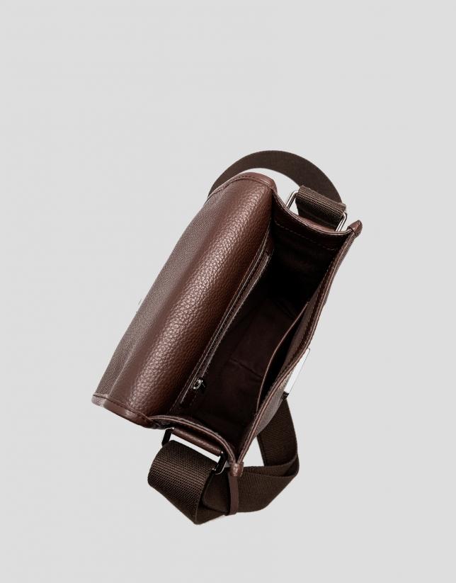 Bandoulière homme en cuir marron