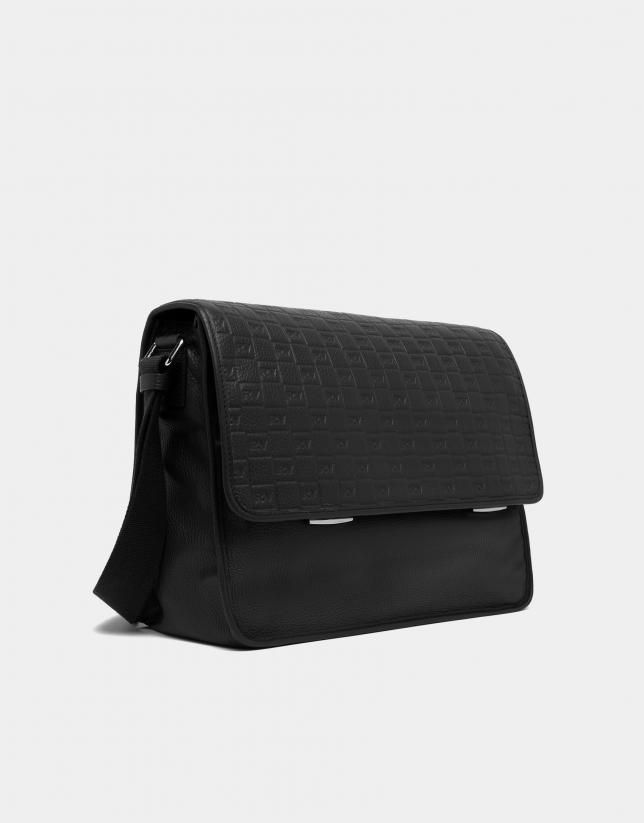 Grand portefeuille homme en cuir noir