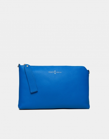 Sapphire leather Lisa Clutch
