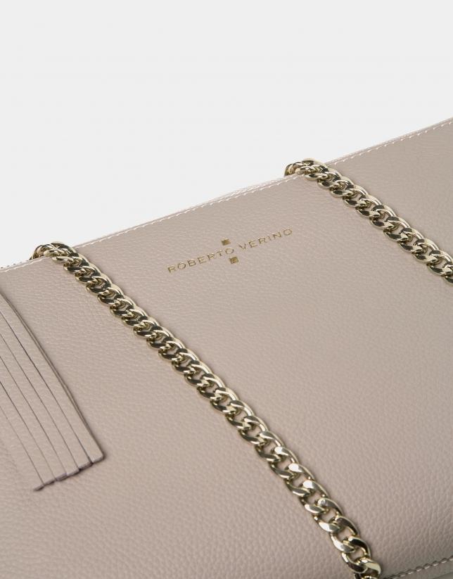 Ivory leather Lisa Clutch