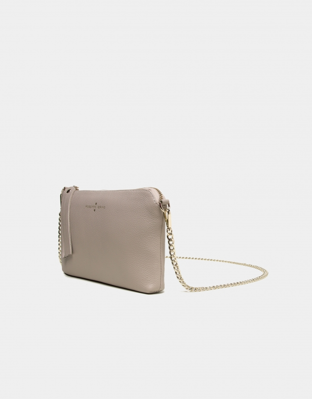 Ivory leather Lisa nano Clutch
