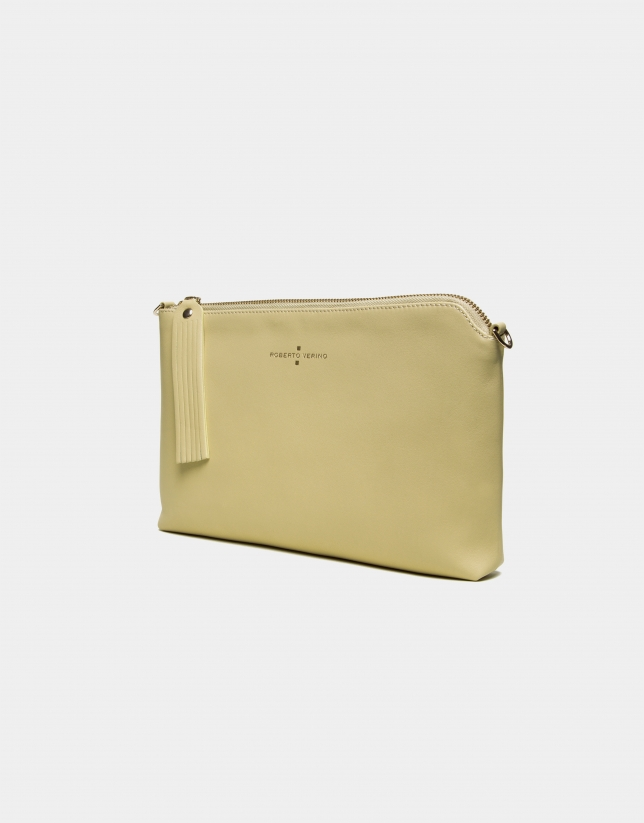 Yellow leather Lisa Clutch