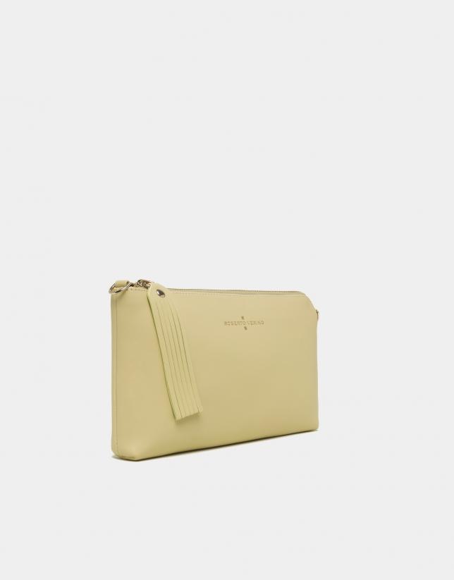 Bolso Clutch Lisa nano amarillo