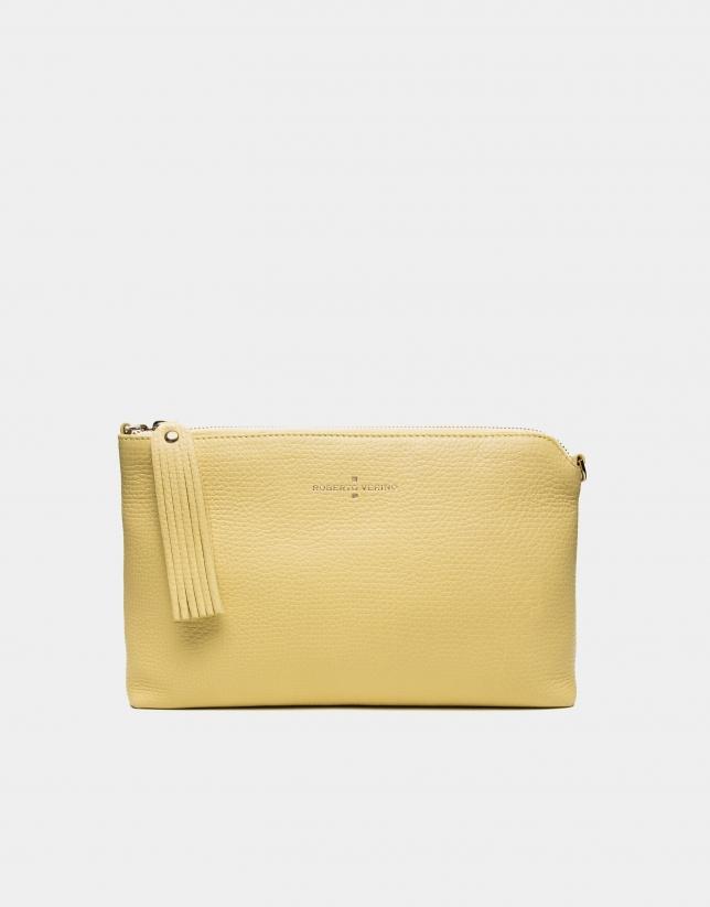Sun yellow leather Lisa Clutch