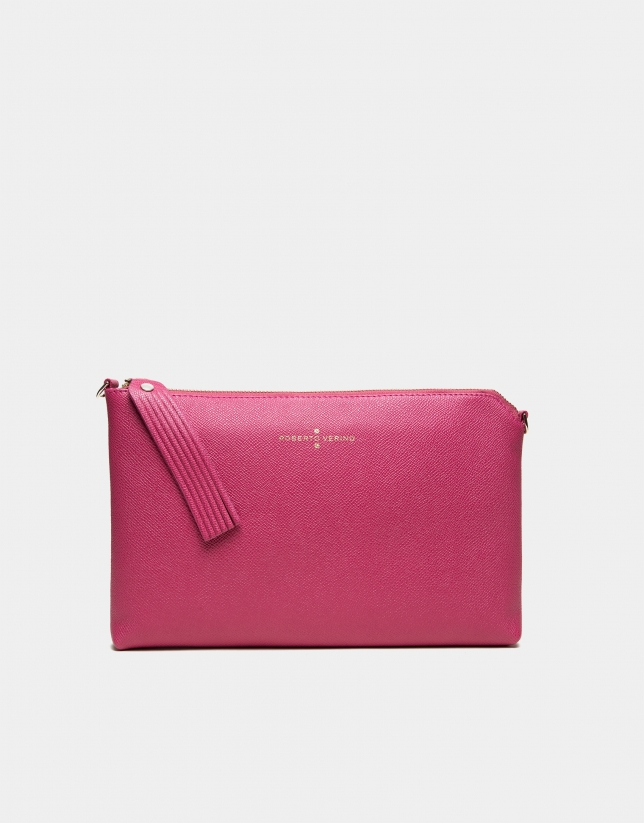 Strawberry red leather Lisa Clutch