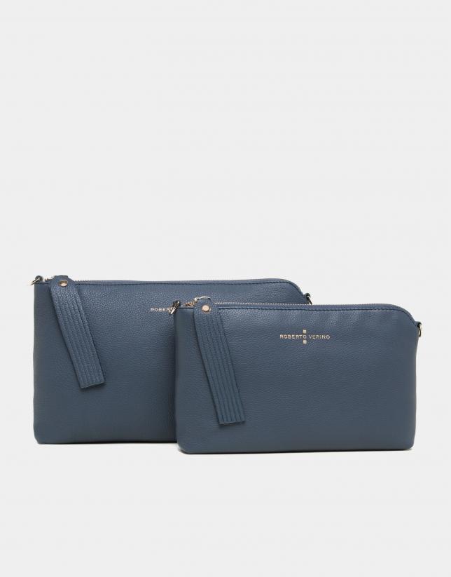 Bolso Clutch Lisa azul marino