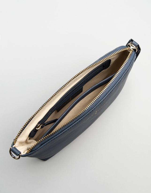 Bolso Clutch Lisa nano azul marino