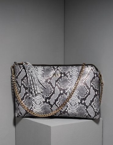 Snakeskin leather Lisa Clutch