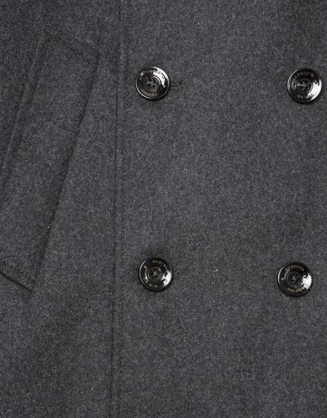 Chaquetón lana cruzado gris