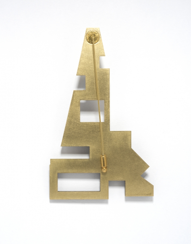 Broche Eiffel dorado