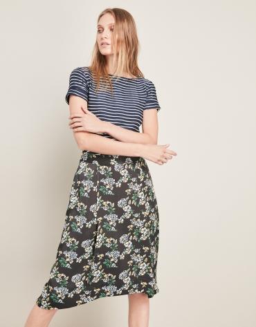 Print flare skirt