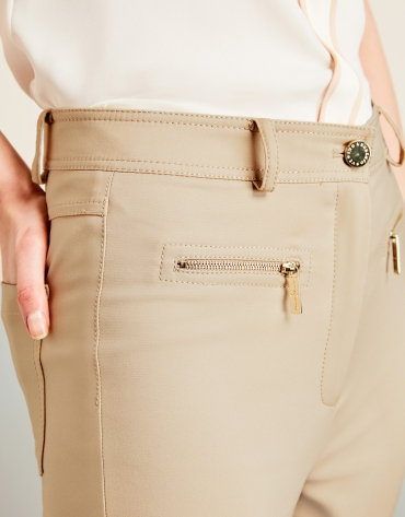 Pantalon fuseau beige