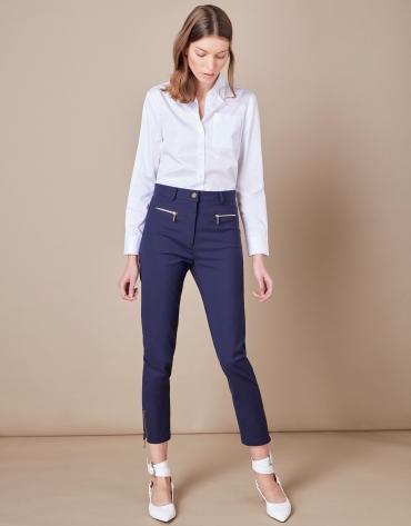 Pantalon fuseau bleu