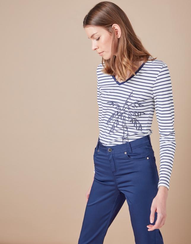 Pantalón sport cinco bolsillos azul marino