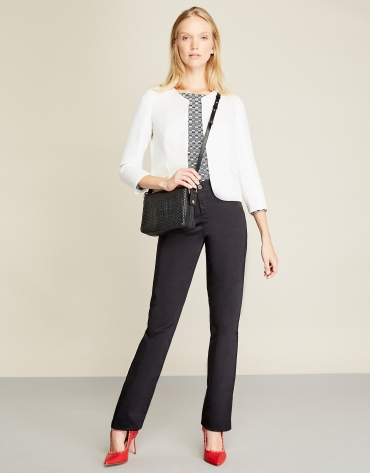 Black sport pants with five pockets