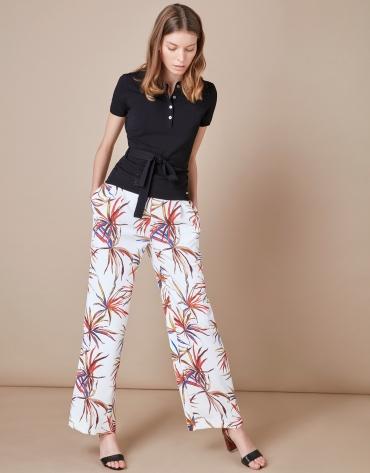 Print palazzo pants