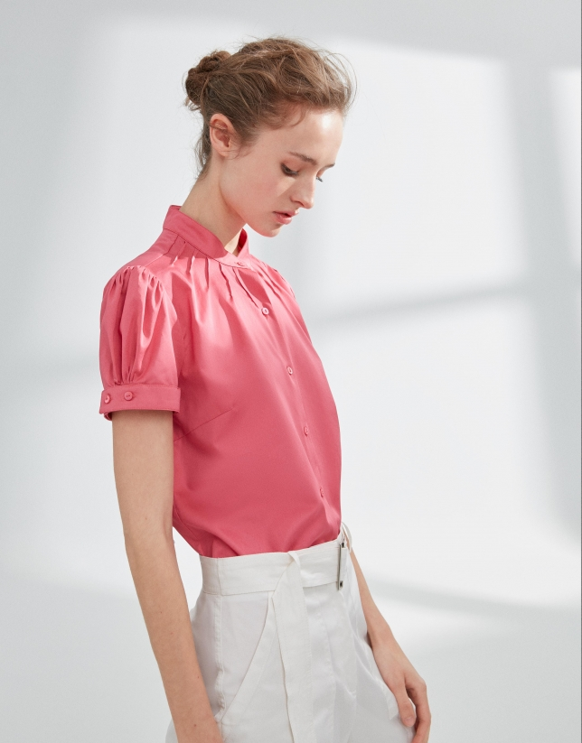 Blusa manga farol rosa