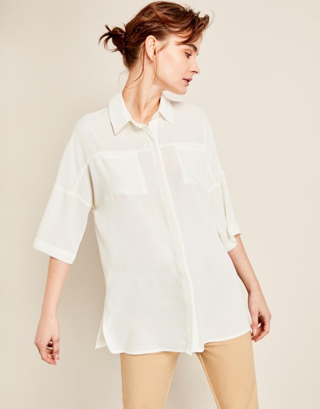 Blusa oversize crudo