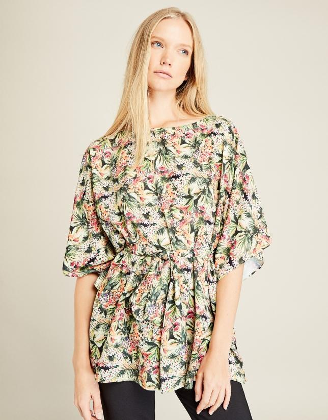 Multicolored oversize blouse