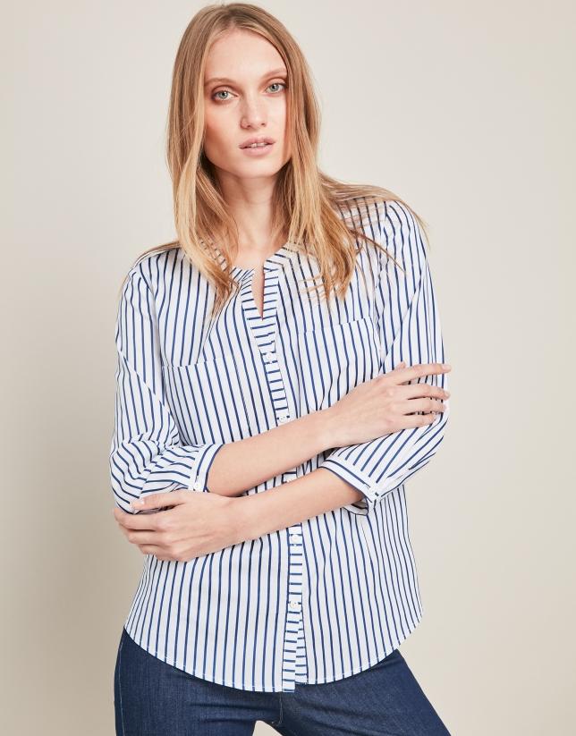 1869cc4e2f44 Camisa rayas azules - Mujer - PV2018 | Roberto Verino