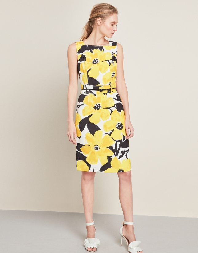 Dress with yellow flowers