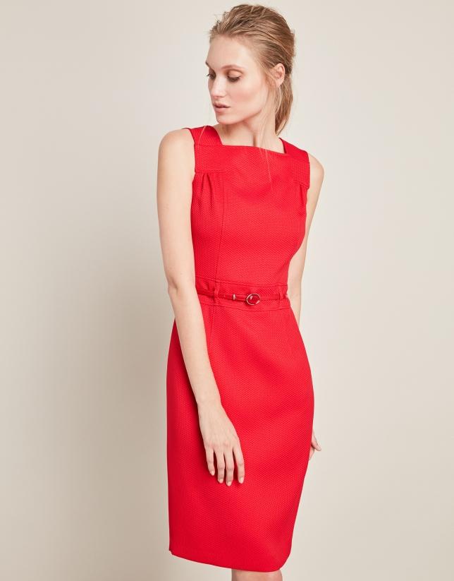 Vestido rojo tirantes