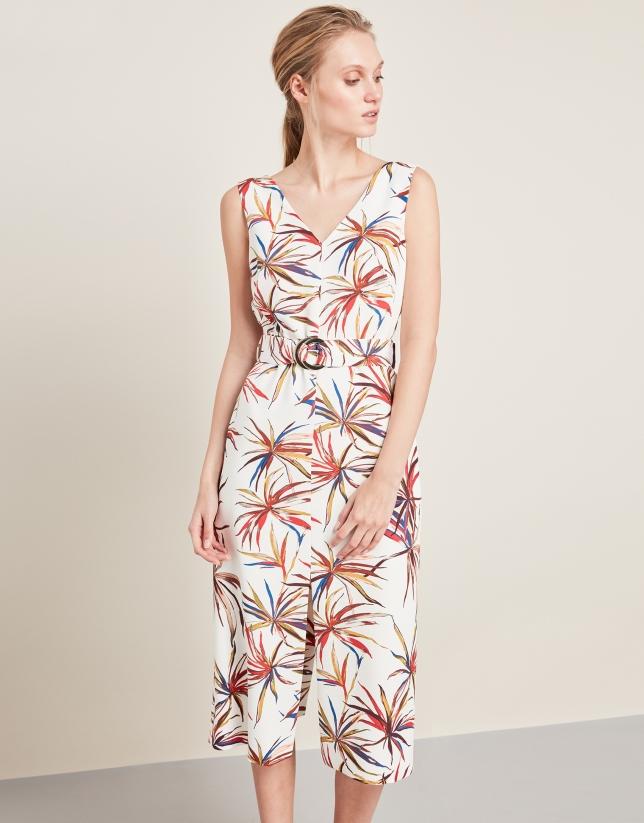 69e7ced6c Vestido cruzado estampado floral rojo - Mujer | Roberto Verino