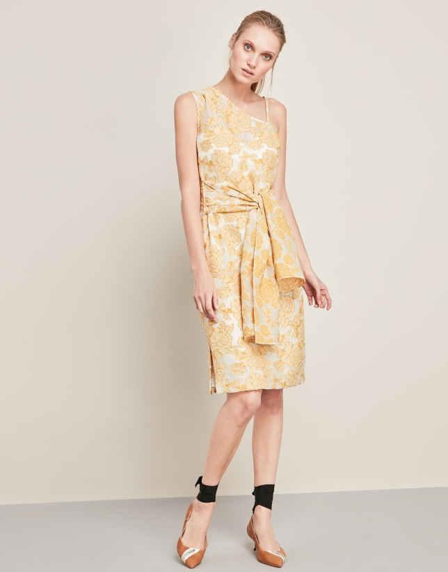 Vestido asimétrico amarillo