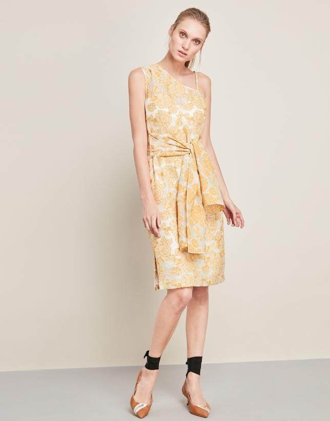 Yellow asymmetric dress