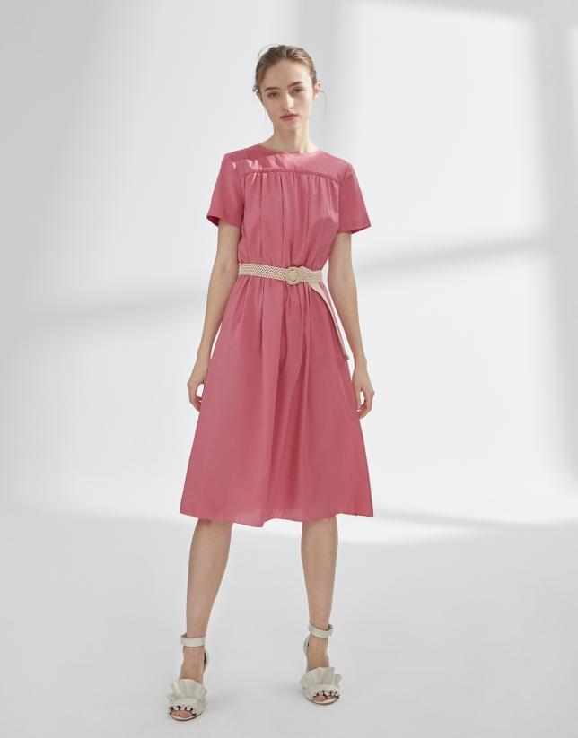 Vestido estilo vintage rosa