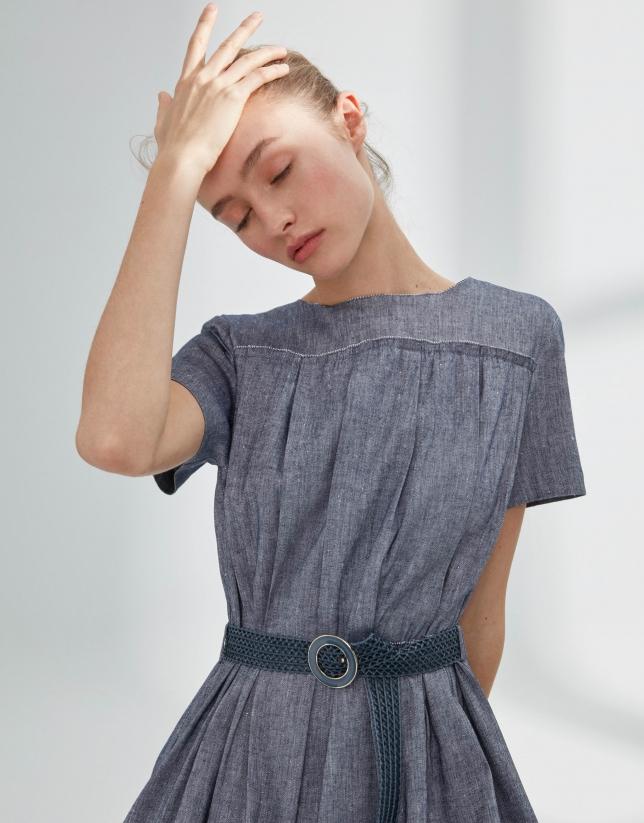 Vestido estilo vintage azul