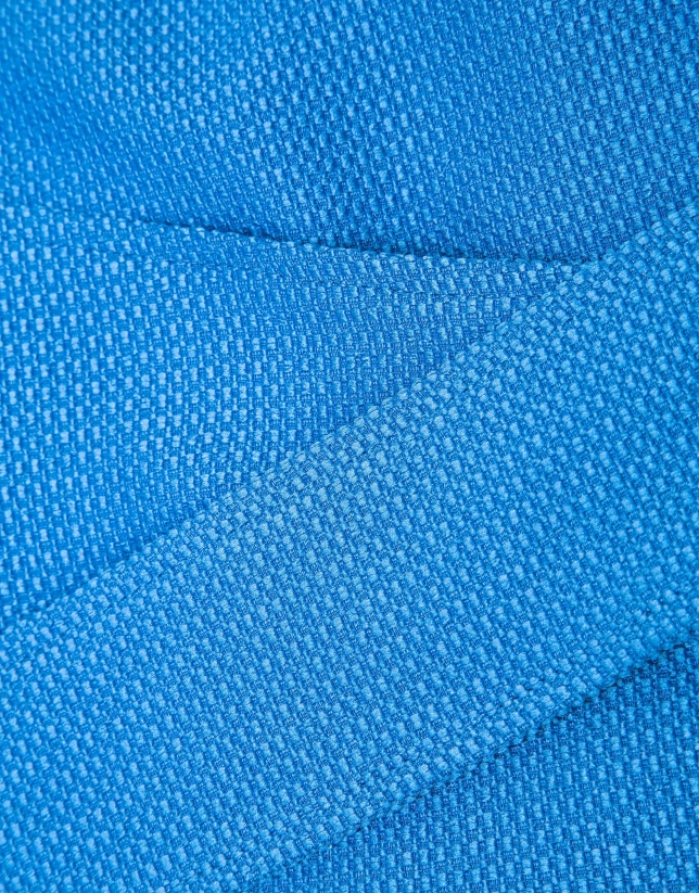 Veste à ruban en bleu
