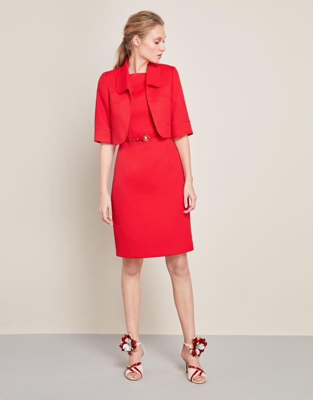 Red bolero jacket