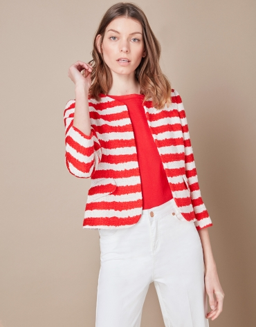 Short striped jacket