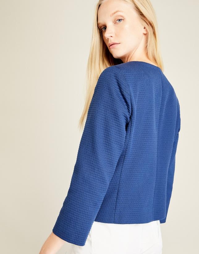 Veste courte bleue à poches