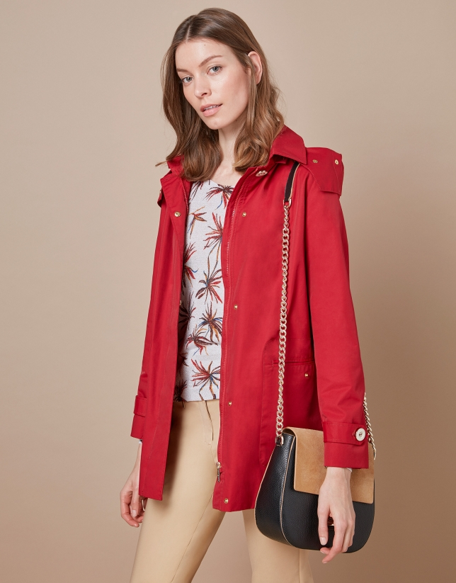 Red sailor parka